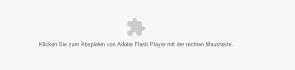 Hier die Nachricht - (Adobe, Chrome)