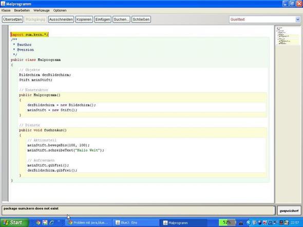 Fehlermeldung! - (Computer, Programm, Java)