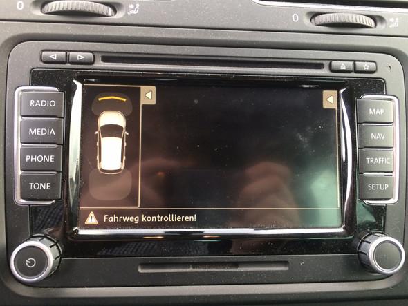 Display der Rückfahrkamera - (Auto, Rückfahrkamera, VW Golf VI)