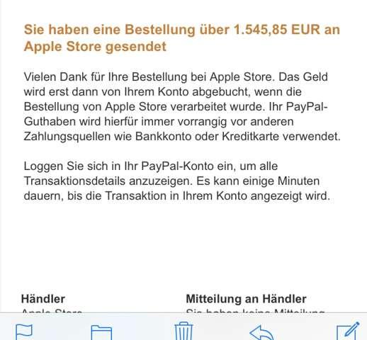 Apple Konto Aufladen Paypal