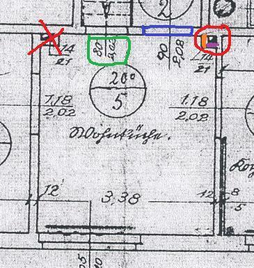 Zeichnung des Zimmers in welchem der Ofen geplant ist - (Ofen, Kamin, schornsteinfeger)