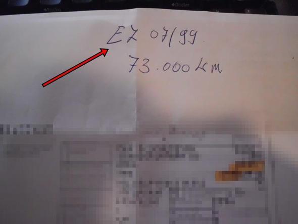 Erstzulassung 2 - (Auto, kaufen, Betrug)