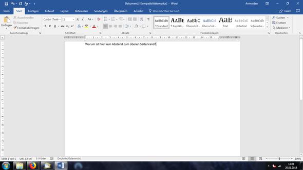 Probleme mit Microsoft Word - Seitenränder? (Computer, Text)