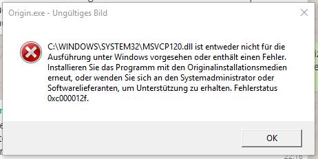 Die Fehlermeldung Nr.1, die Zweite ist identisch (bis auf die DLL-Datei) - (Computer, PC, Windows)
