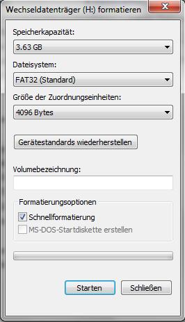Formations-Optionen - (Computer, PC, Windows)