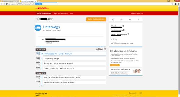 Seit 3 Tagen Gleicher Status Bei Paket Tracking Processed At