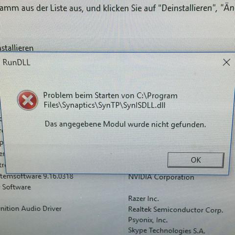 Hier die Fehlermeldung  - (Computer, PC, Internet)