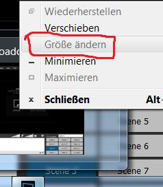 """Option """"Größe ändern"""" funktioniert nicht - (Programm, Windows 7, gesperrt)"""