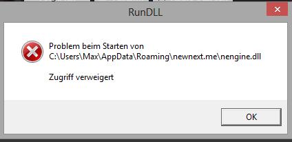 Hier die Fehlermeldung - (Computer, PC, Windows)