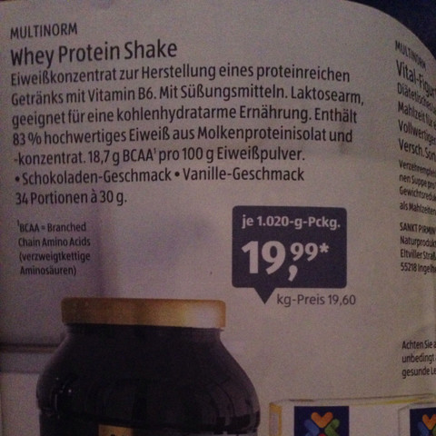 Foto davon! - (ALDI, Protein, Pulver)