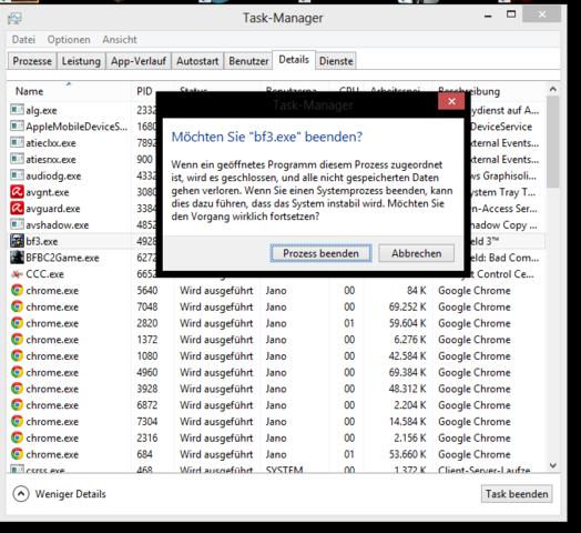 it - (Computer, Windows 8, prozess)