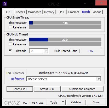 CPU Benchmark i7 4790 - (CPU, Benchmark, CPU-Z)
