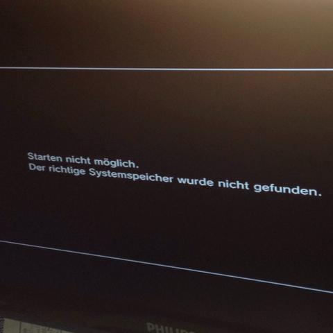 Hier ist der beschriebene Fehler... - (PS3, ylod, Festplatten Fehler Ps3)