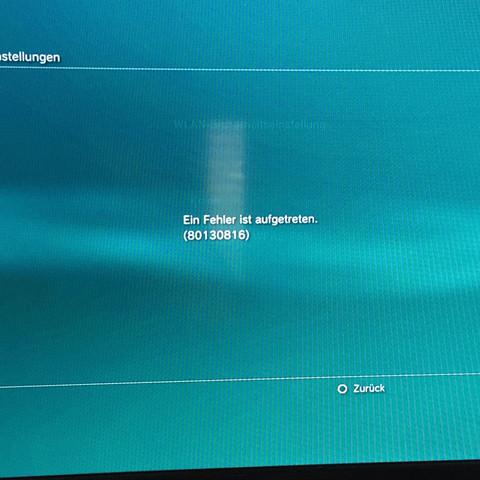Hier der Fehlercode beim neuen verbinden - (Internet, PS3, WLAN)