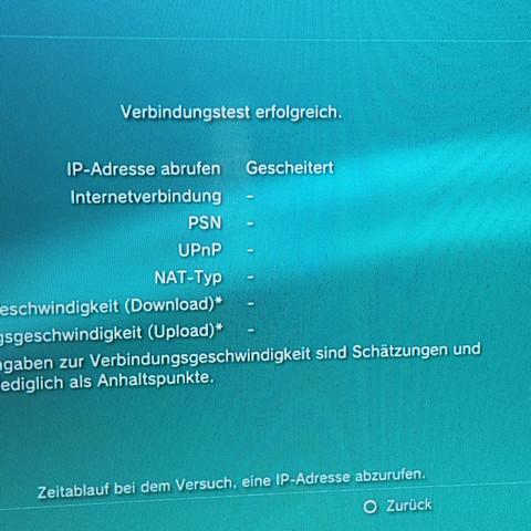 Hier beim verbindungstest - (Internet, PS3, WLAN)