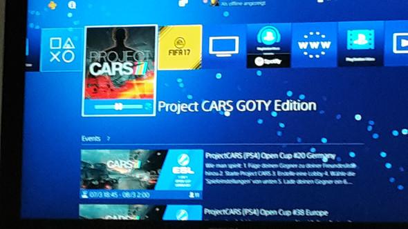- (Playstation 4, Project Cars, Ps4 Fehlermeldung)