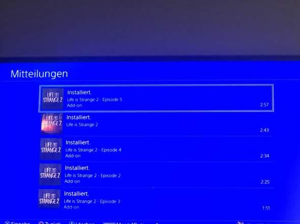 PS4 Life is Strange 2 Episoden 2-5 nicht spielbar?