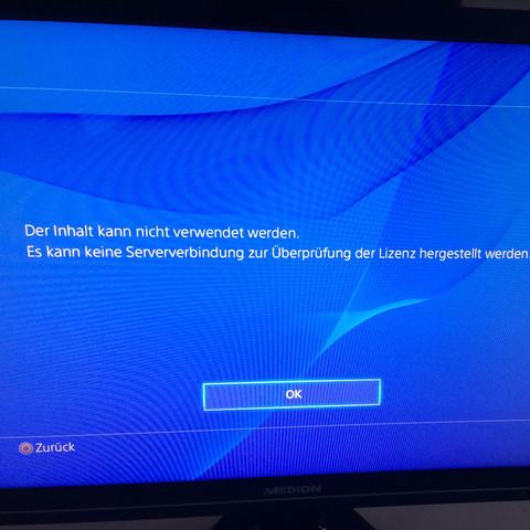 Keine Spiele spielbar - (Technik, Server, PS4)