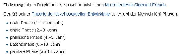 Phasen nach Freud - (Beziehung, Psychologie, Menschen)