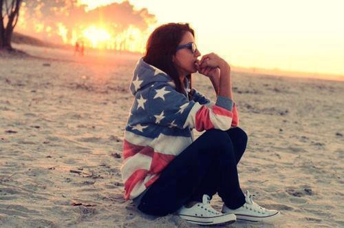Pulli mit Flagge - (USA, Flagge, Pulli)