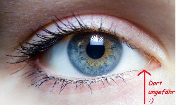 Punkt Loch Auf Der Wasserlinie Im Auge D Medizin Korper Augen