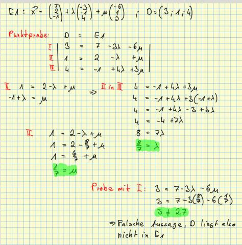 Rechenweg - (Mathe, Mathematik, Analytische Geometrie)