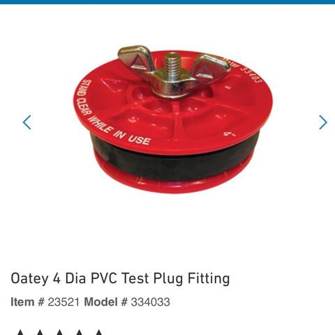Pvc plug - (Technik, Handwerk, Sanitär)