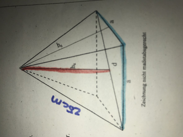 Pyramide Berechnen aufgabe?
