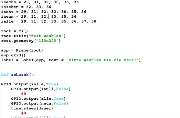 Dritter Teil vom Programm - (programmieren, Python, Unix)