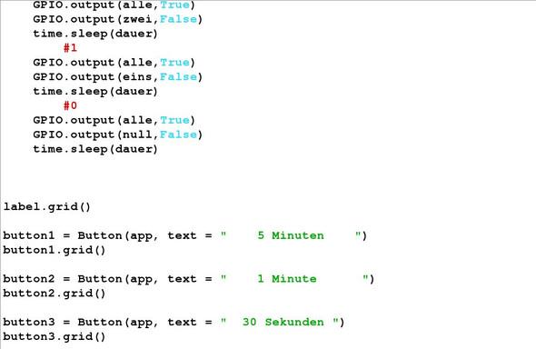 Fünfter teil vom Programm - (programmieren, Python, Unix)