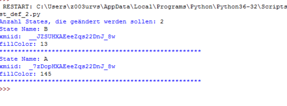 Beispielausführung: meines Programmcodes - (Python, csv)