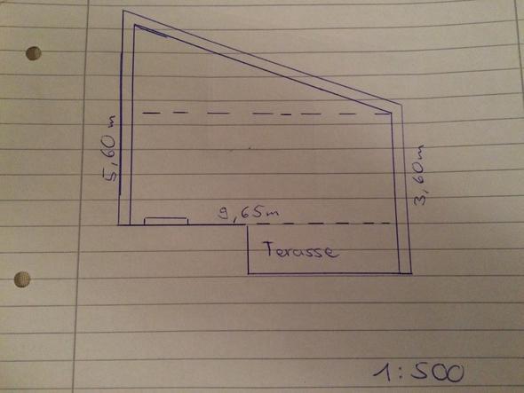 qm fl che berechnen eines hof w nde verschiedene l ngen. Black Bedroom Furniture Sets. Home Design Ideas