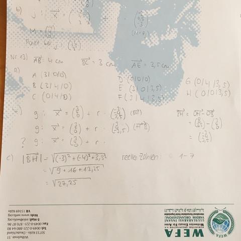 Lösung - (Mathe, Vektoren)