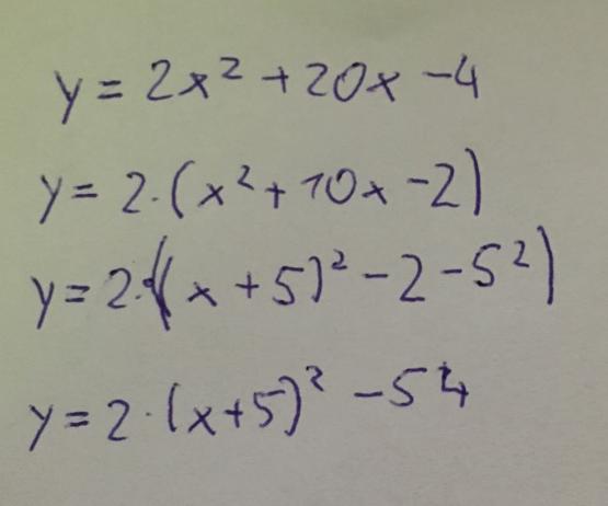 Bild 1 - (Mathematik, Quadratische Funktion)