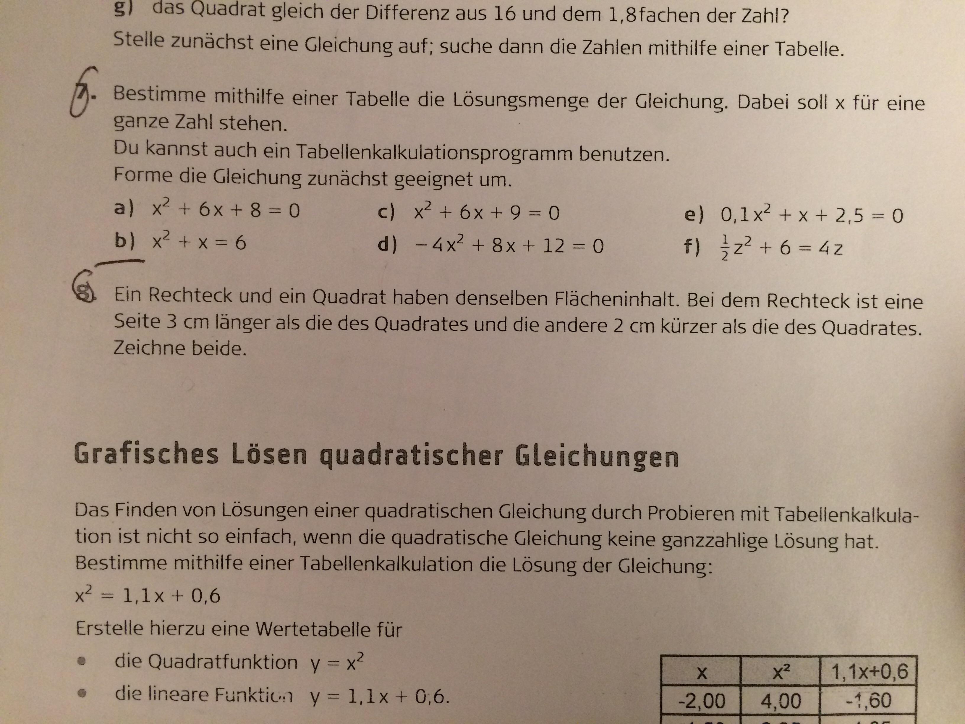 Quadratische Gleichung aus Text Aufgabe entnehmen? (Mathe, Gleichungen)