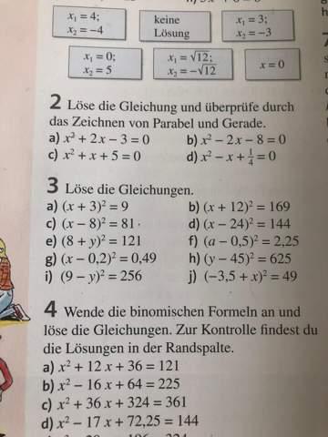 Quadratische Gleichungen lösen Hilfe?