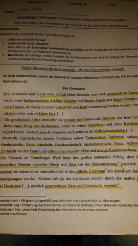Klausur - (Schule, Arbeit, Geschichte)