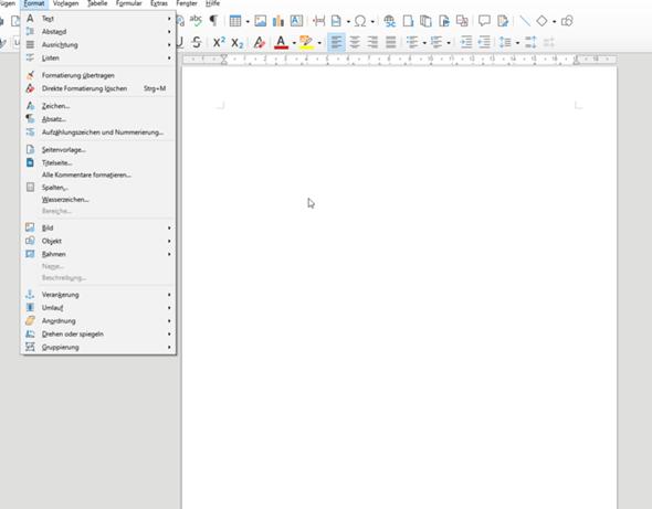 Querformat bei LibreOffice Writer einstellen?