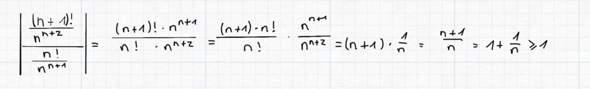 Quotientenkriterium zum Beweis der Konvergenz einer Reihe?
