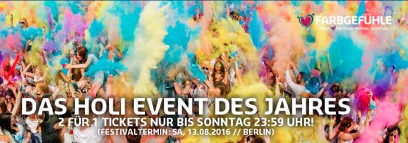 holifestival 2für1 Aktion - (Freizeit, Event, holi festival)