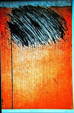 Red furrows, Radierung von Maarten Thiel - (Freizeit, Radierung, thiel)