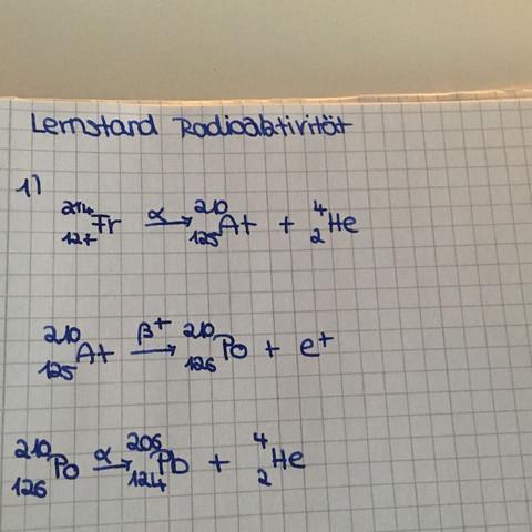 1. 3 zerfallsschritte - (Schule, Physik, Radioaktivitaet)