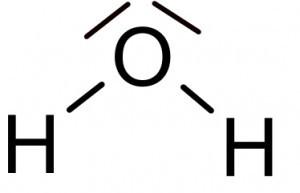 Räumlicher bau von Molekülen z.B H2O? (Chemie, valenzstrichformel)