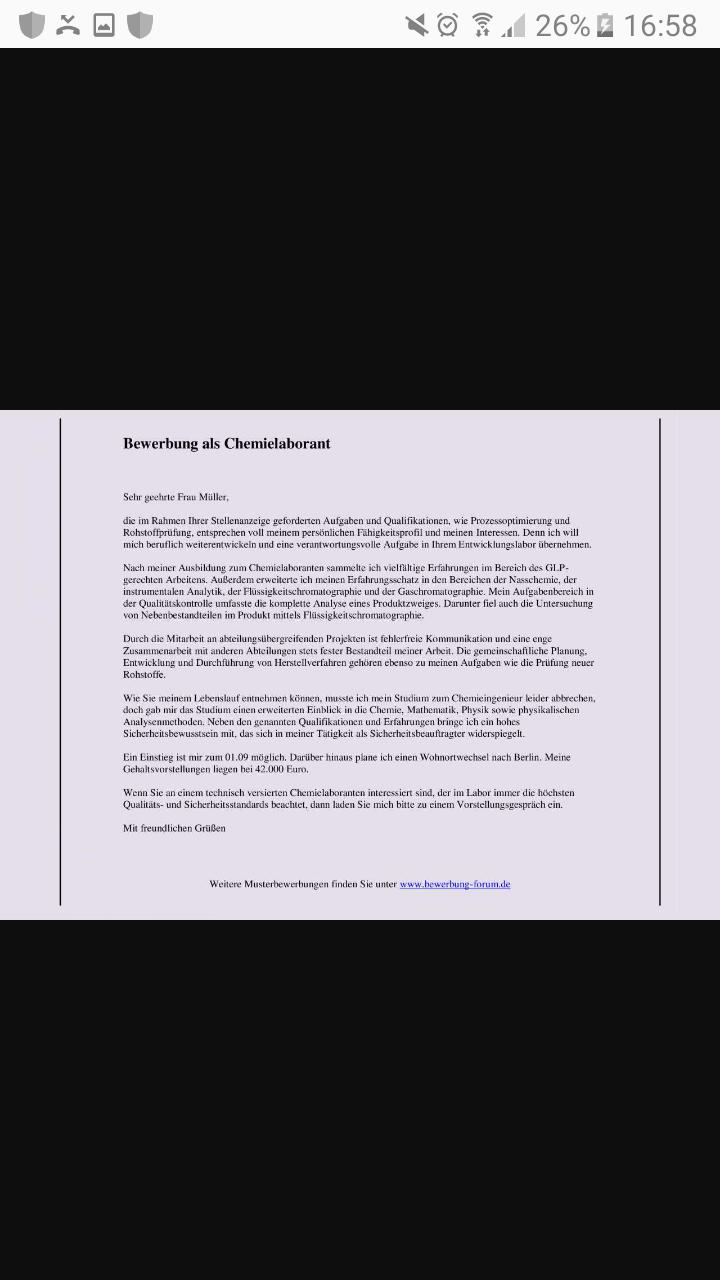 Rand in einem textdokument (Bewerbung)? (Dokumente, bewerbungsanschreiben)
