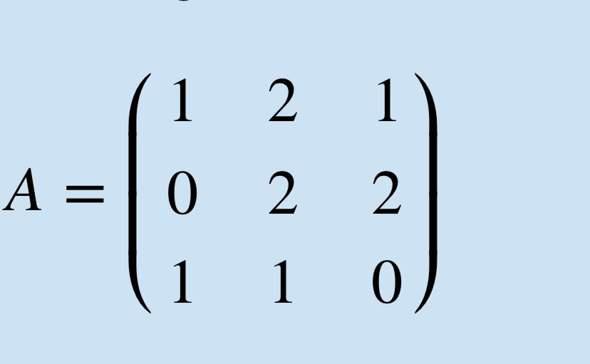 Rang Matrix und Dimension Spaltenraum?