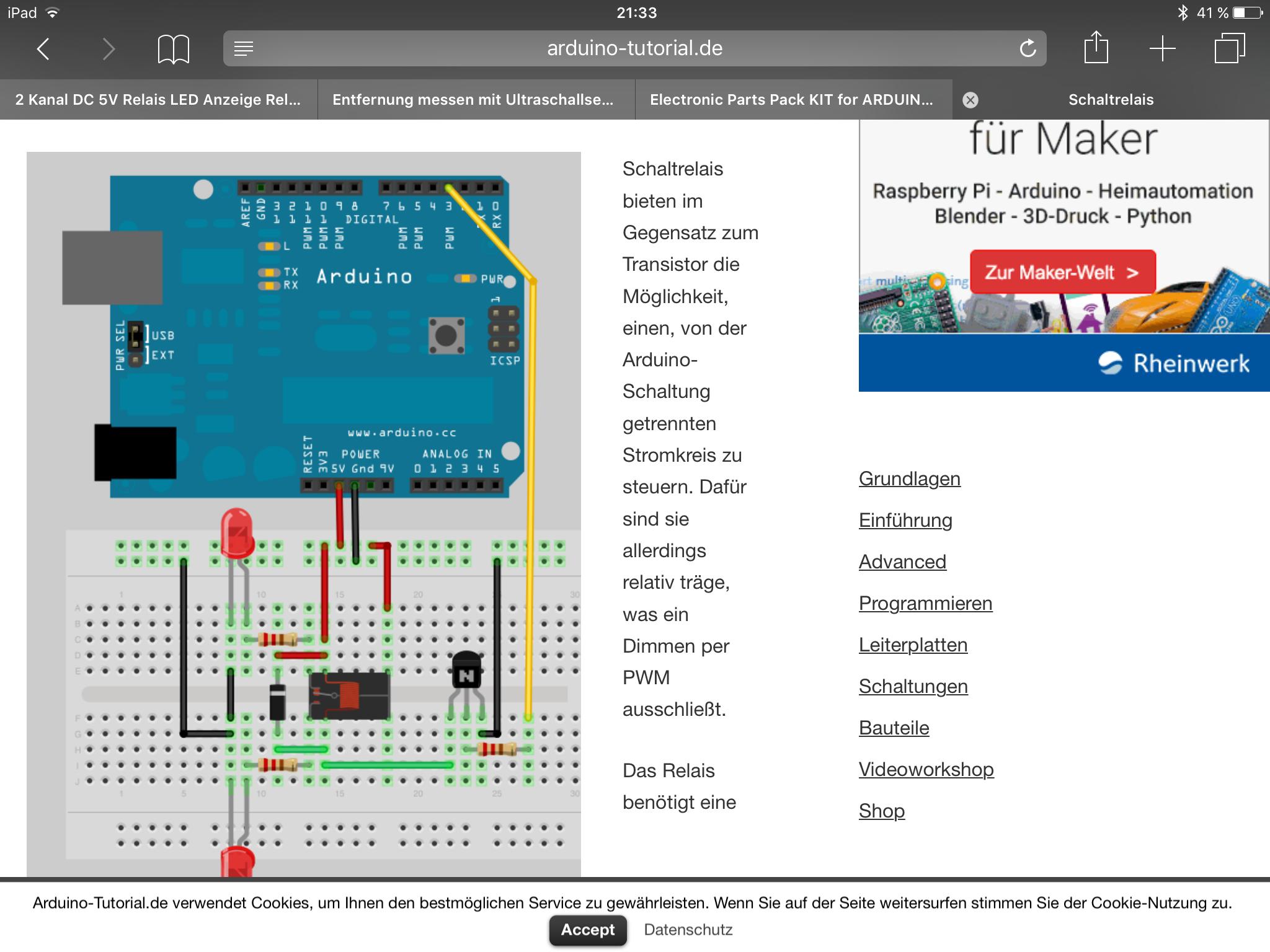 Raspberry pi printrelai (Elektronik, Schaltung, Widerstand)
