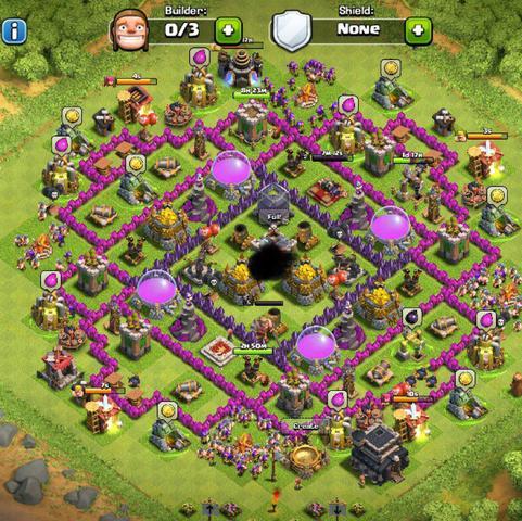 Mein bisheriges dorf - (clash of clans, coc, Rathaus level 10)