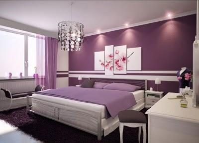 rauhfasertapete lila streichen (Wand)