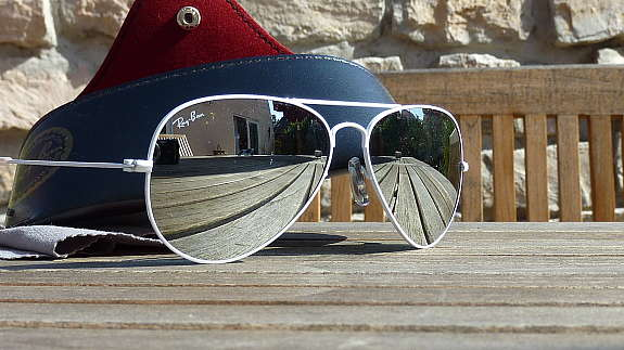 ray ban aviator schwarze gläser