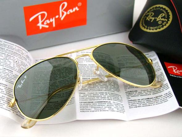 ray ban aviator large grün